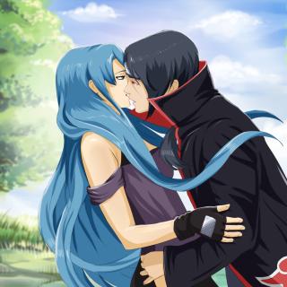 Uchiha Itachi and Akatsuki Kiss - Obrázkek zdarma pro 1024x1024