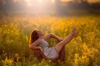 Countryside Girl - Obrázkek zdarma pro Desktop Netbook 1366x768 HD