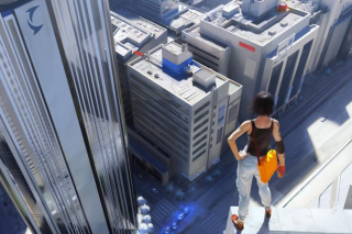 Free Girl On A Roof Picture for Android, iPhone and iPad