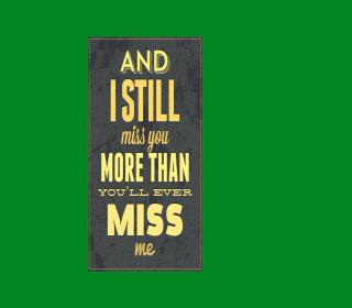 I Miss You - Obrázkek zdarma pro 128x128
