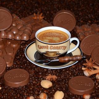 Coffee with milk chocolate Milka - Obrázkek zdarma pro 128x128