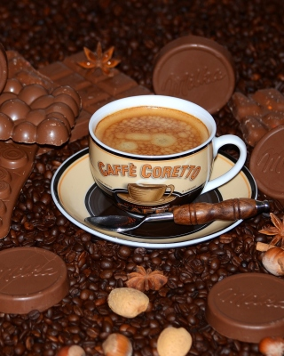 Coffee with milk chocolate Milka - Obrázkek zdarma pro Nokia Asha 502
