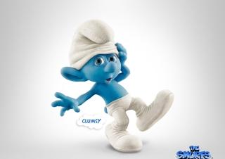 Clumsy Smurf - Obrázkek zdarma pro Nokia Asha 205