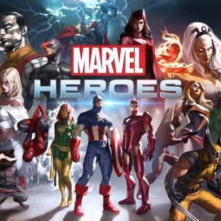 Marvel Comics Heroes - Obrázkek zdarma pro iPad mini