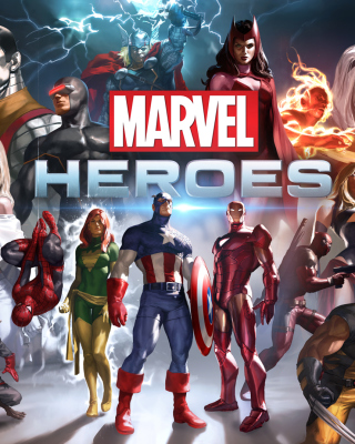 Marvel Comics Heroes - Obrázkek zdarma pro Nokia X1-00