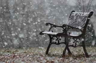 Free Snowy Bench Picture for Android, iPhone and iPad