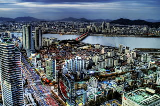 Seoul Panorama South Korea Picture for Android, iPhone and iPad