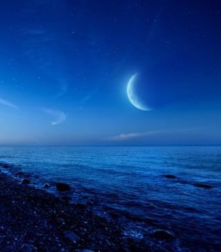 Moon On Gravel Beach - Obrázkek zdarma pro 240x400