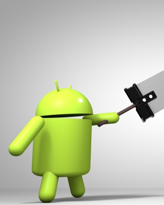Android Logo - Obrázkek zdarma pro Nokia X7