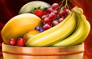 Fruit Basket - Obrázkek zdarma pro Fullscreen 1152x864