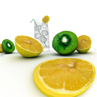 Lemons And Kiwi - Obrázkek zdarma pro iPad Air