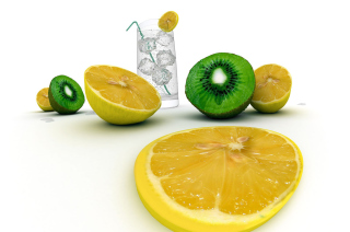 Lemons And Kiwi Background for Android, iPhone and iPad