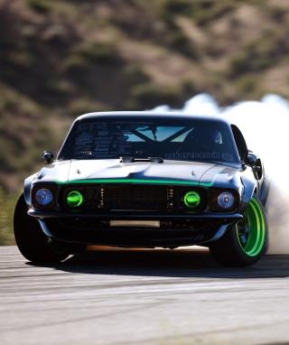 Ford Mustang Drifting - Obrázkek zdarma pro 360x400