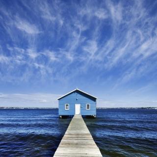 Blue Pier House - Obrázkek zdarma pro iPad Air