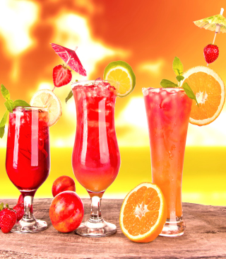 Summer Yummy Cocktail - Obrázkek zdarma pro Nokia Lumia 800