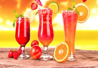 Summer Yummy Cocktail - Obrázkek zdarma pro 480x320