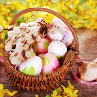Easter Basket And Sheep - Obrázkek zdarma pro 2048x2048