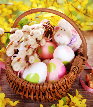 Easter Basket And Sheep - Obrázkek zdarma pro iPhone 3G