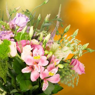 Bouquet of iris flowers - Obrázkek zdarma pro iPad mini