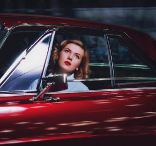 Model In Luxury Car - Obrázkek zdarma pro iPad mini