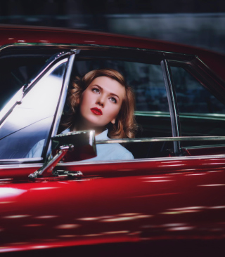 Model In Luxury Car - Obrázkek zdarma pro iPhone 6