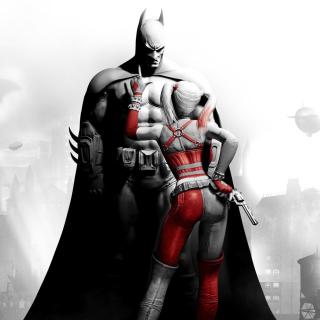 Batman Arkham Knight with Harley Quinn - Obrázkek zdarma pro iPad