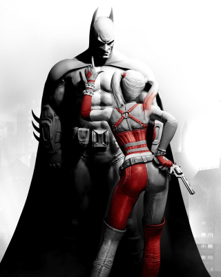 Batman Arkham Knight with Harley Quinn - Obrázkek zdarma pro Nokia Lumia 920T