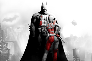 Batman Arkham Knight with Harley Quinn Background for Android, iPhone and iPad