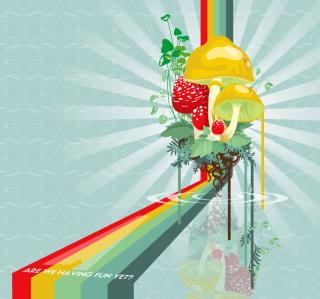 Abstract Mushrooms - Obrázkek zdarma pro 320x320