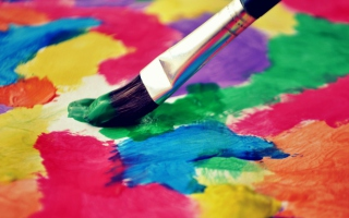 Free Art Brush And Colorful Paint Picture for Android, iPhone and iPad
