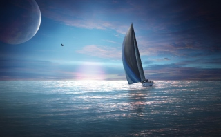 Sailing Boat Background for Android, iPhone and iPad