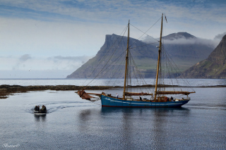 Bay Faroe Islands, Denmark Wallpaper for Android, iPhone and iPad