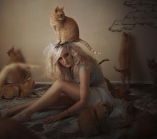 Cat Girl - Obrázkek zdarma pro 128x128