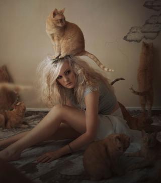 Cat Girl - Obrázkek zdarma pro iPhone 4S