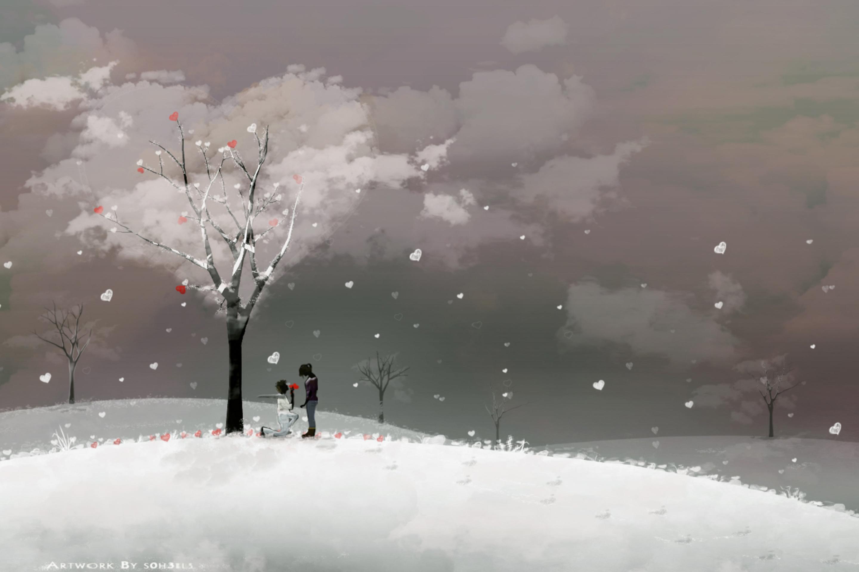 Зима любовь картинки фото 3