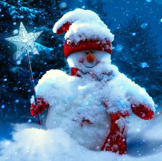 Snowy Snowman - Obrázkek zdarma pro 128x128