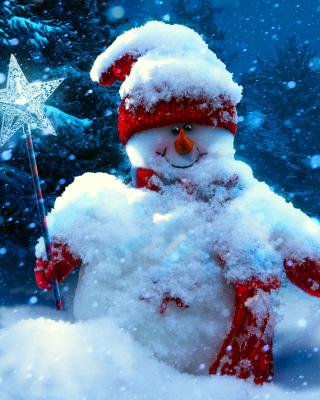 Snowy Snowman - Obrázkek zdarma pro 240x320