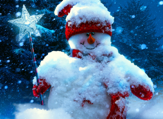 Snowy Snowman - Obrázkek zdarma pro 2560x1600