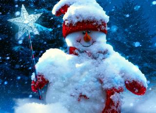 Snowy Snowman - Obrázkek zdarma pro Samsung Galaxy A5