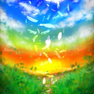 Feather Art - Obrázkek zdarma pro iPad