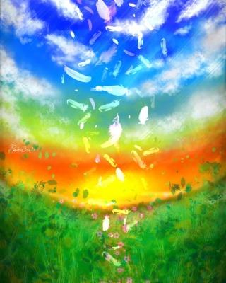 Feather Art - Obrázkek zdarma pro iPhone 5S