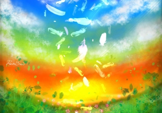 Feather Art - Obrázkek zdarma pro Nokia Asha 205