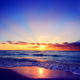Romantic Sea Sunset - Obrázkek zdarma pro iPad