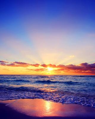 Romantic Sea Sunset - Obrázkek zdarma pro 240x400