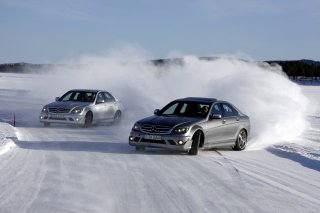 Mercedes Snow Drift - Obrázkek zdarma pro 1080x960