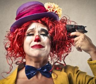Sad Clown - Obrázkek zdarma pro 1024x1024