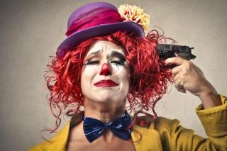 Sad Clown - Obrázkek zdarma pro Fullscreen 1152x864