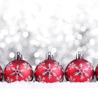 Snowflake Christmas Balls - Obrázkek zdarma pro 208x208