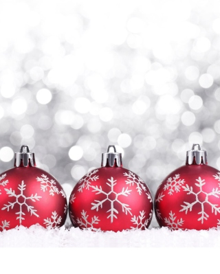 Snowflake Christmas Balls - Obrázkek zdarma pro Nokia Asha 305