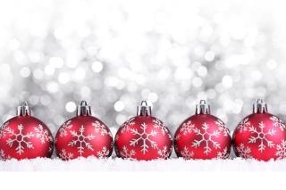 Snowflake Christmas Balls - Obrázkek zdarma pro 480x360